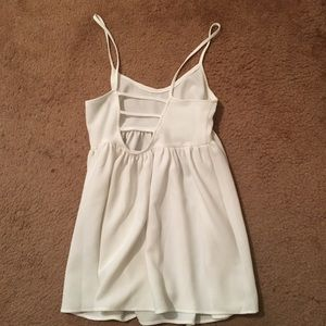 Nasty Gal Ivory Lattice Back Dress